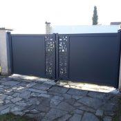 Portail noir | Sonnier, Menuiserie, Panneaux, Bois | Isère (38), Drôme (26), Ardèche (07)