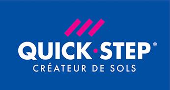 Logo partenaire Quick Step - créateur de sols | Sonnier, Menuiserie, Panneaux, Bois | Isère (38), Drôme (26), Ardèche (07)