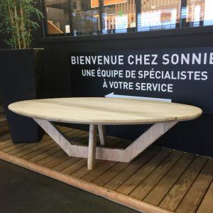 Sonnier design table basse ovale en chêne massif | Sonnier, Menuiserie, Panneaux, Bois | Isère (38), Drôme (26), Ardèche (07)