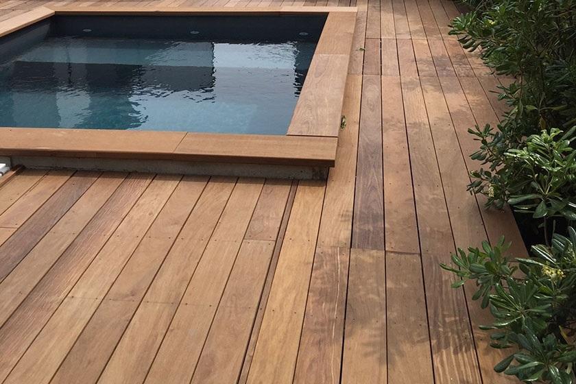 Terrasse et piscine bois exotique ipe   Sonnier, Menuiserie, Panneaux, Bois   Isère (38), Drôme (26), Ardèche (07)