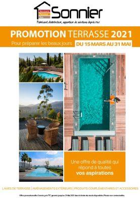 Catalogue promo terrasse 2021   Sonnier, Menuiserie, Panneaux, Bois   Isère (38), Drôme (26), Ardèche (07)